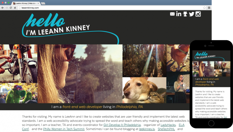 LeeAnn Kinney Website Design